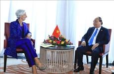 越南政府总理阮春福会见国际货币基金组织总裁