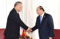 阮春福总理会见印尼工商会馆总主席罗山
