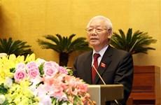越共中央总书记、国家主席阮富仲在宣誓就职后畅谈肺腑之言