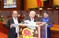 国会第六次会议对48名领导投信任票
