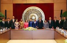 阮氏金银会见出席第三届东盟妇女工作部长会议的东盟各国代表团团长