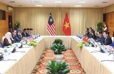 越南政府副总理范平明与马来西亚副总理旺·阿兹莎举行会谈