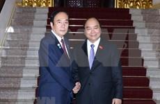 越南政府总理阮春福会见日本琦玉县知事上田清司