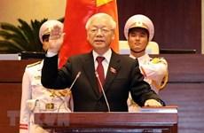 世界多国领导继续向越共中央总书记、国家主席阮富仲致贺电