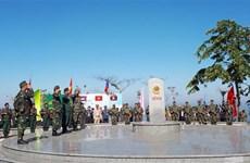 越老柬三国举行向界碑敬礼和边境联合巡逻见证仪式