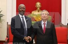 越共中央书记处常务书记陈国旺会见苏丹总统助理、全国大副主席易卜拉欣