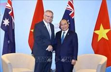 东盟峰会:越南政府总理阮春福会见澳大利亚总理莫里森