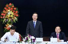 越共中央宣教部部长访问部分新闻媒体机构