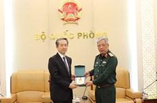越南国防部副部长会见中国驻越南特命全权大使