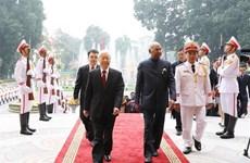 阮富仲与印度总统科温德举行会谈