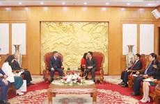 """哈萨克斯坦""""祖国之光党""""代表团对越南进行工作访问"""