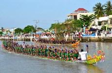 高棉族拜月节与龙舟赛在茶荣、朔庄热闹举行