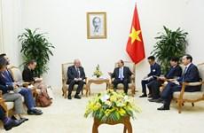 越南政府总理阮春福会见比利时驻越大使保罗•詹森