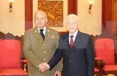 越共中央总书记、国家主席阮富仲会见古巴革命武装力量部部长