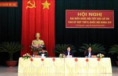 越南外交部部长和公安部部长接待选民