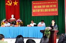 国会主席阮氏金银:选民们提出的意见将成为国会代表讨论的问题