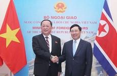 朝鲜中央通讯社报道有关该国外交部长李勇浩访越之行