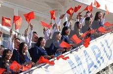 东南亚与日本青年船抵达胡志明市