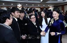韩国媒体纷纷报道越南国会主席访韩之旅