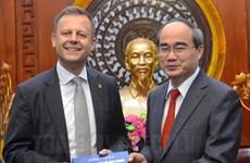 胡志明市与德国莱比锡加强合作关系