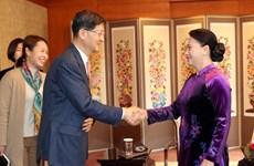 阮氏金银会见部分韩国经济集团代表