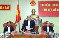 阮春福总理同得乐省领导进行座谈