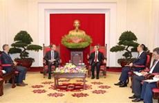 越共中央经济部部长会见谷歌集团全球事务副总裁