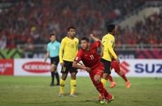 越南足球队主场以1-0拿下马来西亚队夺得AFF Suzuki Cup 2018冠军