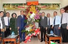 胡志明市领导人走访越南南方福音教教会