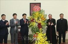 河内市领导会见河内总教区新任总主教武文天