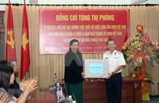 国会副主席丛氏放探访越南海军第三区司令部