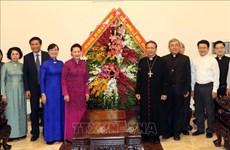国会主席阮氏金银圣诞节前走访胡志明市天主教总教区
