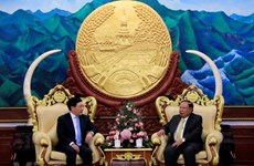 越南政府副总理兼外长范平明对老挝进行正式访问