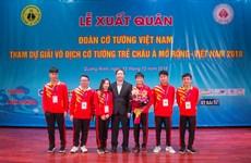 广宁省2018年亚洲少年象棋公开赛:越南代表团获得17枚金牌