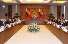 越南国会主席与俄罗斯国家杜马主席举行会谈