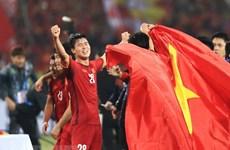 2019年亚洲杯:越南队与朝鲜队进行足球友谊赛