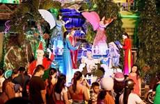 越南全国人民欢天喜地迎接圣诞