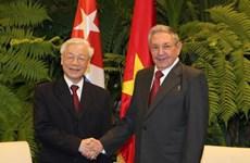 越南领导人致电祝贺古巴等国国庆