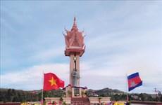 越柬友谊纪念碑在柬埔寨蒙多基里省落成