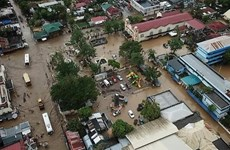 """越南领导人就台风""""乌斯曼""""袭击向菲律宾致慰问电"""
