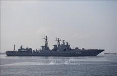 俄罗斯三艘军舰访问菲律宾马尼拉