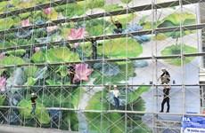 内排国际机场巨型壁画作品给乘客留下深刻印象