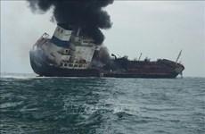 AulacFortune号油轮起火燃烧事故:越方了解情况并采取公民保护措施