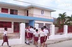 越古友谊学校在古巴圣地亚哥省竣工落成