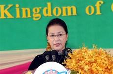 越南国会主席阮氏金银在APPF-27上发表讲话