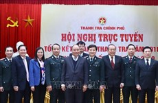阮春福总理出席政府监察总署工作总结会议
