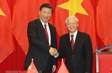 越中两国领导人互致贺电庆祝两国建交69周年