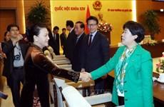 越南国会主席阮氏金银会见韩国越南友好议员小组主席金贺勇
