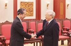 越共中央总书记、国家主席阮富仲接见中国驻越大使