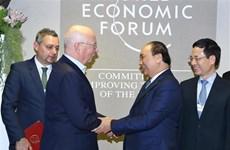 阮春福总理在2019年世界经济论坛年会期间举行一系列双边会晤